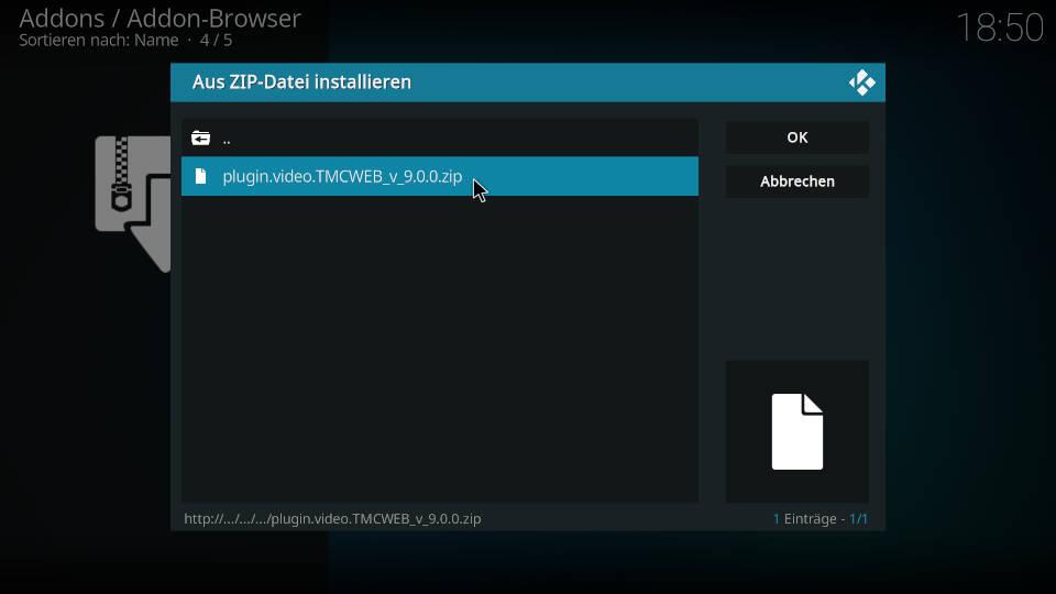 Turk Web Center Kodi Addon installieren - Schritt 3