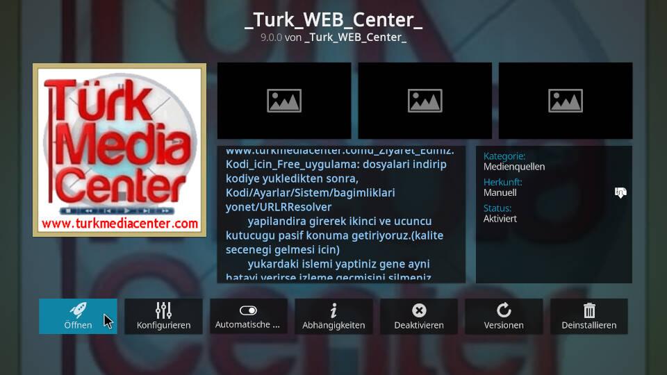 Turk Web Center Kodi Addon installieren - Schritt 8