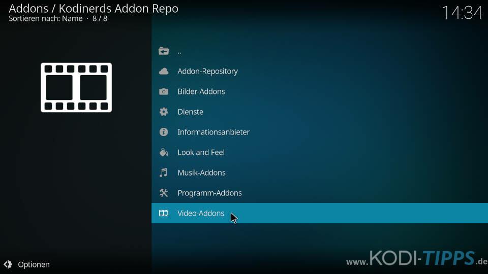 ARTE Kodi Addon installieren - Schritt 1