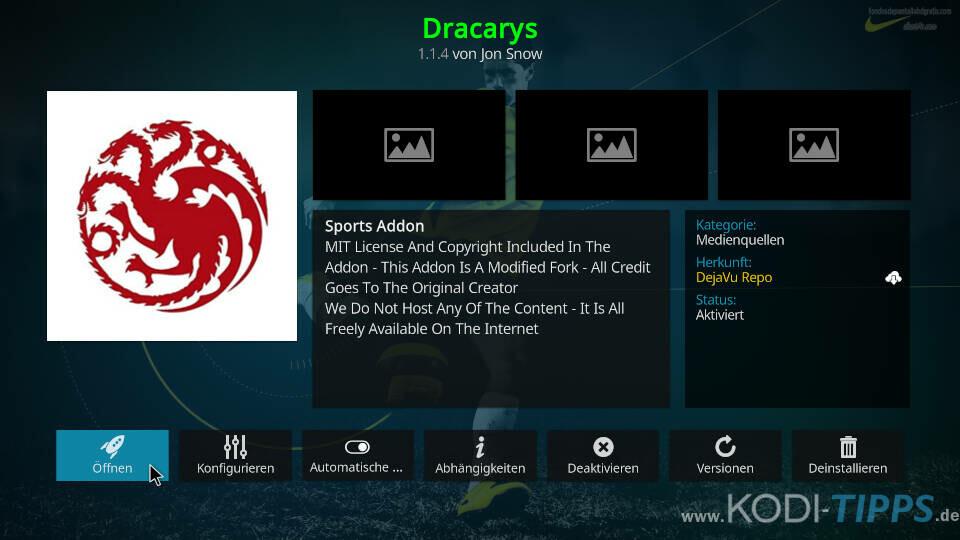 Dracarys Kodi Addon installieren - Schritt 11