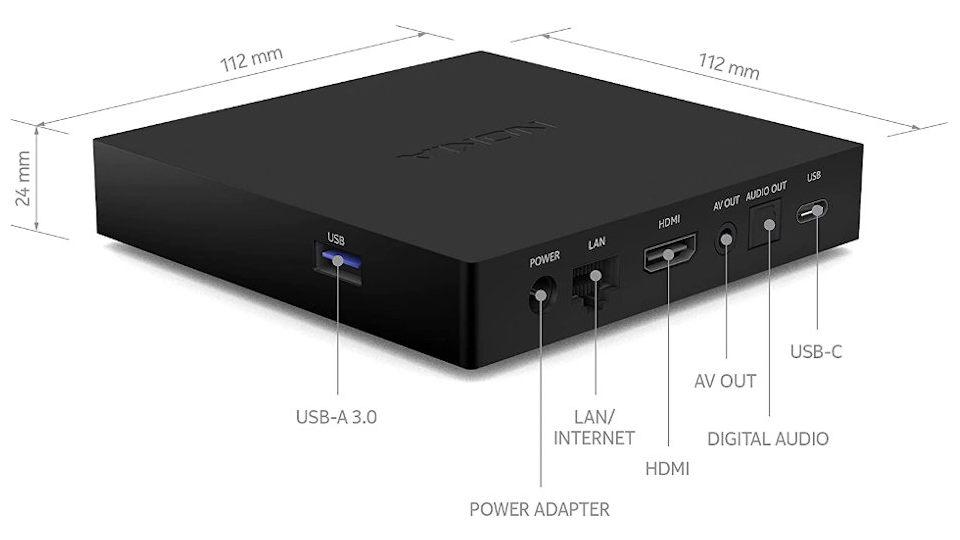 Nokia Streaming Box 8000 Anschlüsse und Maße