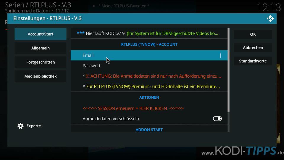 RTLPlus Kodi Addon installieren - Schritt 10