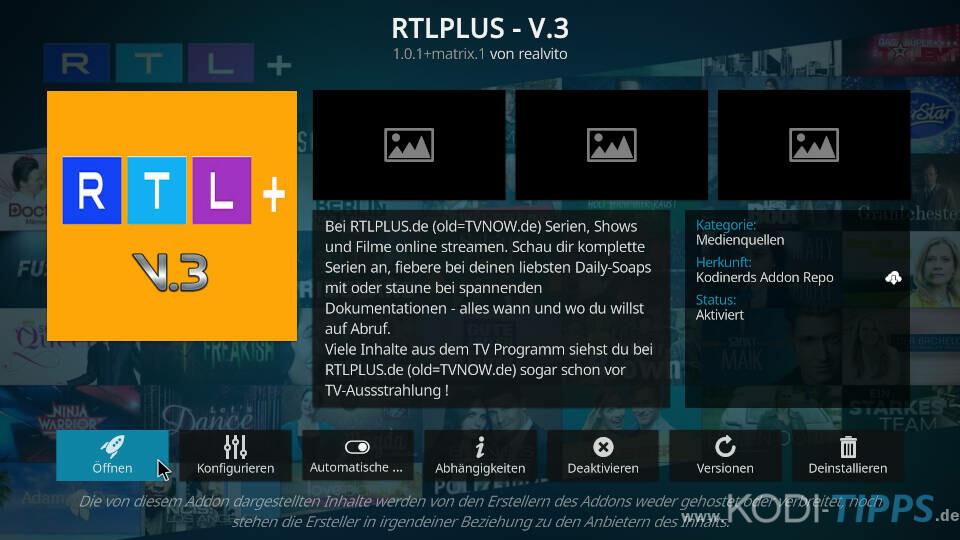 RTLPlus Kodi Addon installieren - Schritt 6