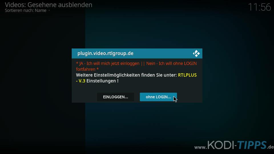RTLPlus Kodi Addon installieren - Schritt 7