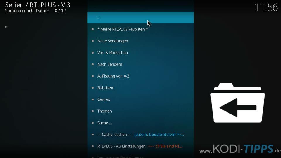 RTLPlus Kodi Addon installieren - Schritt 8