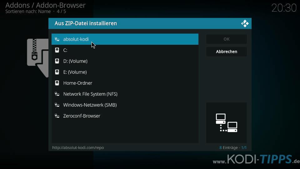 WagasWorld Kodi Addon installieren - Schritt 1