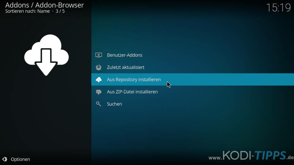LiveNet Kodi Addon installieren - Schritt 3