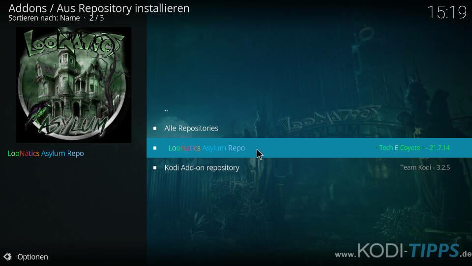 LiveNet Kodi Addon installieren - Schritt 4