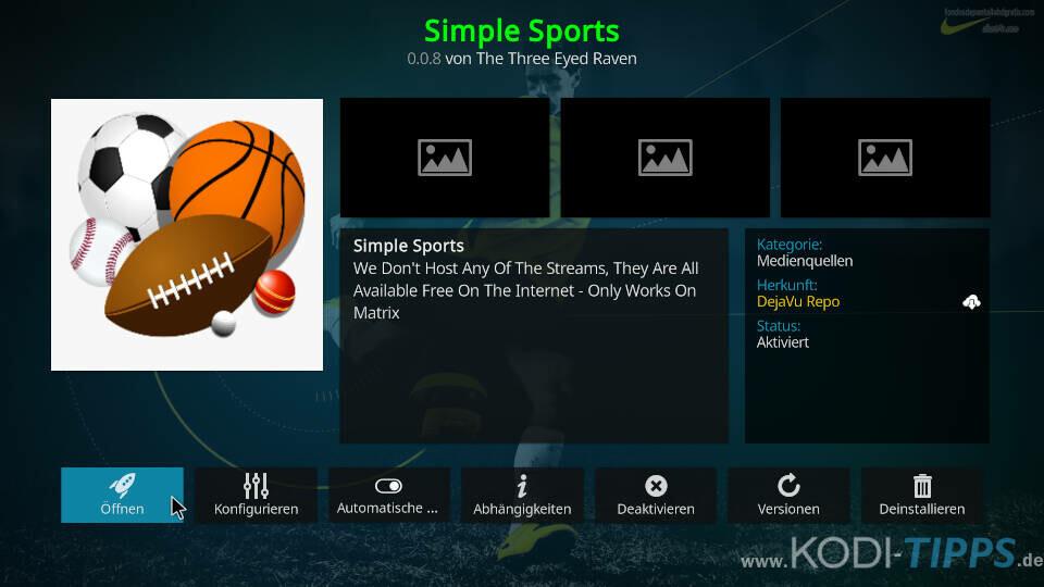 Simple Sports Kodi Addon installieren - Schritt 11