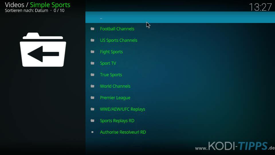 Simple Sports Kodi Addon installieren - Schritt 12
