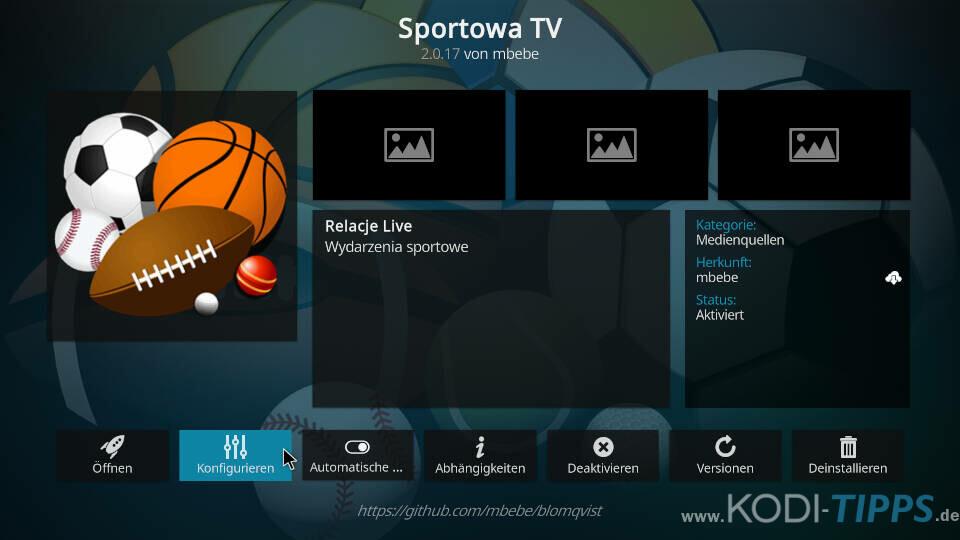 Sportowa TV Kodi Addon installieren - Schritt 11