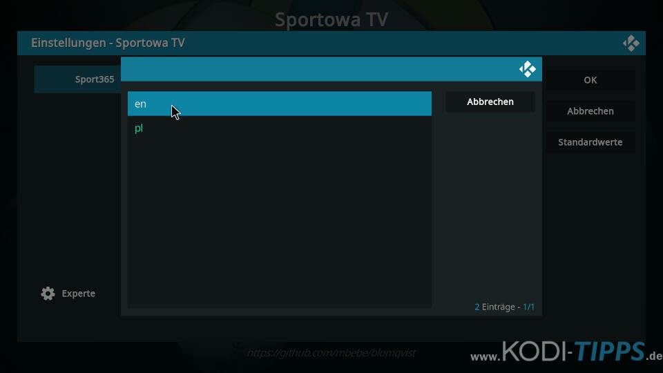 Sportowa TV Kodi Addon installieren - Schritt 13