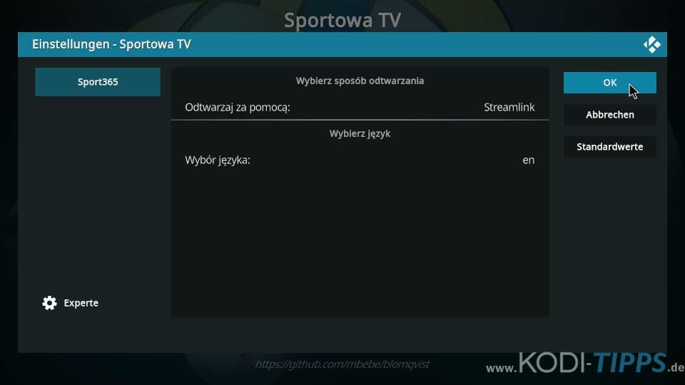 Sportowa TV Kodi Addon installieren - Schritt 14