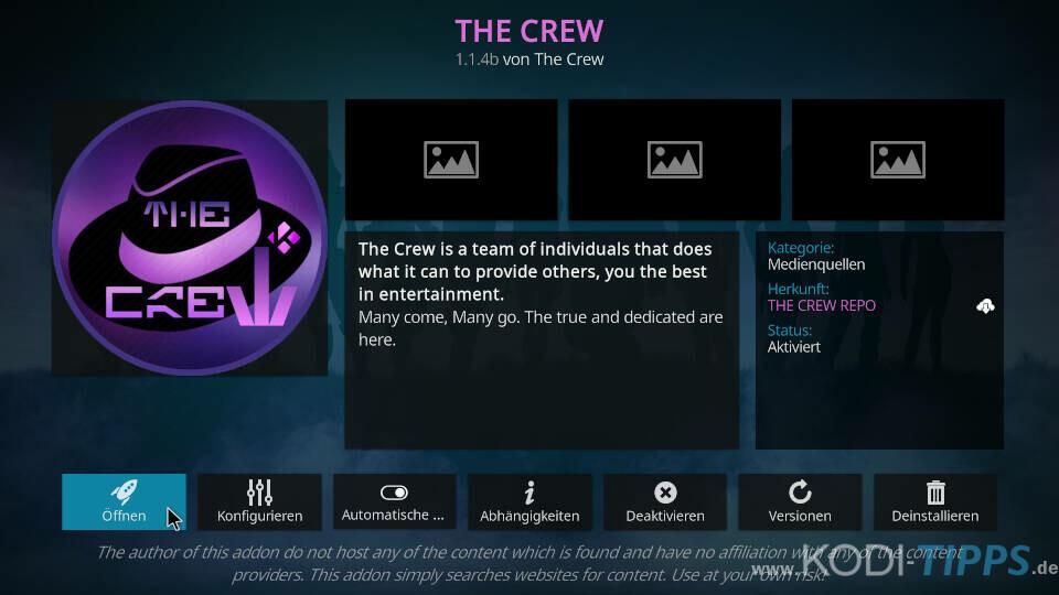 The Crew Kodi Addon installieren - Schritt 11